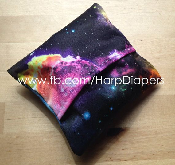 Rainbow Galaxy Pad wrap Pad Wrapper Mini Wet bag by HarpDiapers
