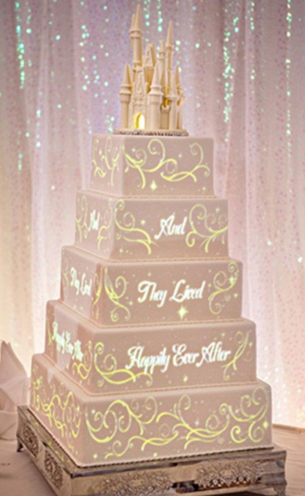 These Disney fairytale wedding cakes come with their own light shows and they're worth getting married for