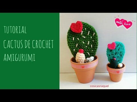 CACTUS a crochet - alfiletero / kit de costura - paso a paso - YouTube