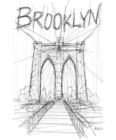 brooklyn bridge drawing google search - Japanese Garden Bridge Drawing