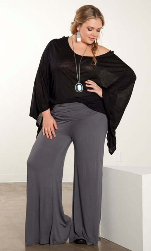 59ca0ae2c2a58 Palazzo Pants for Plus Size–24 Palazzo Outfit Ideas for Curvy Girls