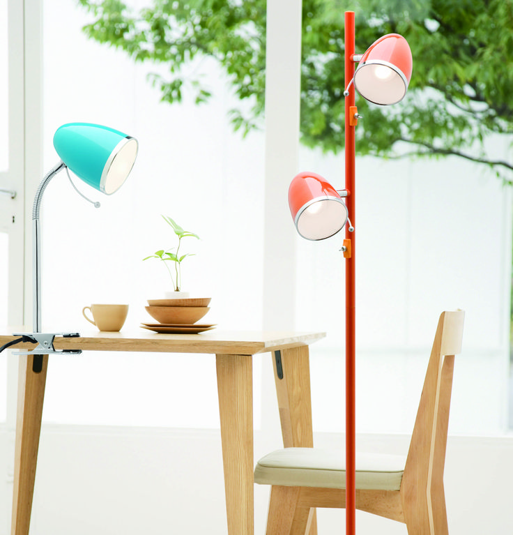 The colourful Sara collection by Mercator Lighting. #TableLamp #FloorLamp #LightingInspiration