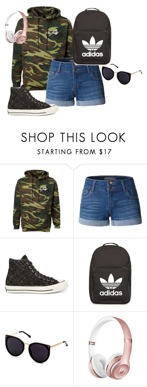 """JaKe PaUl"" by belle13lee on Polyvore featuring LE3NO, Converse and adidas"