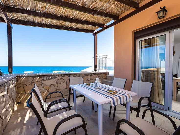 Panormos house rental - Unique balcony with great sea view and privacy!