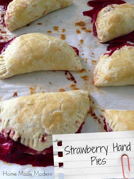 Home Made Modern: Recipe of the Week: Strawberry Hand Pies (Eating Al Fresco)