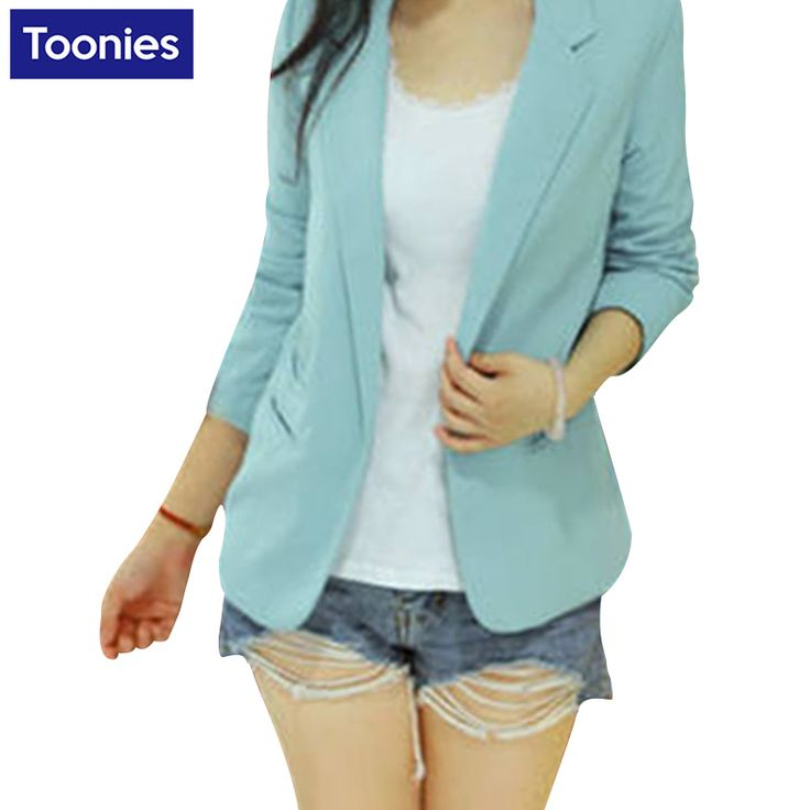 Candy Color Work Wear Female Long Sleeved Jacket Bolero Women's Leisure Office Blazers Autumn Coat Costume For Lady Suit Blazers
