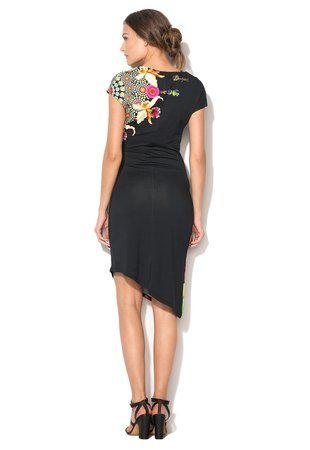 Čierne kvetinové šaty Mildred