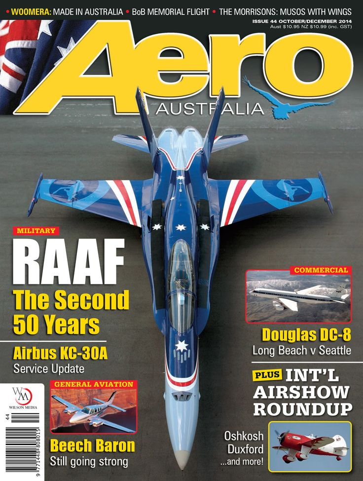 AERO Australia issue 44 Oct-Dec 2014 cover showing the F/A-18 'classic' Hornet which remains Australia's front line fighter.