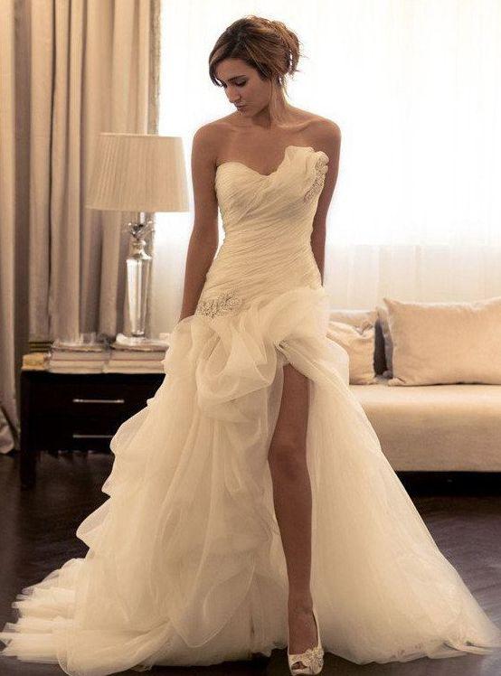 Best 25 Strapless Wedding Gowns Ideas On Pinterest