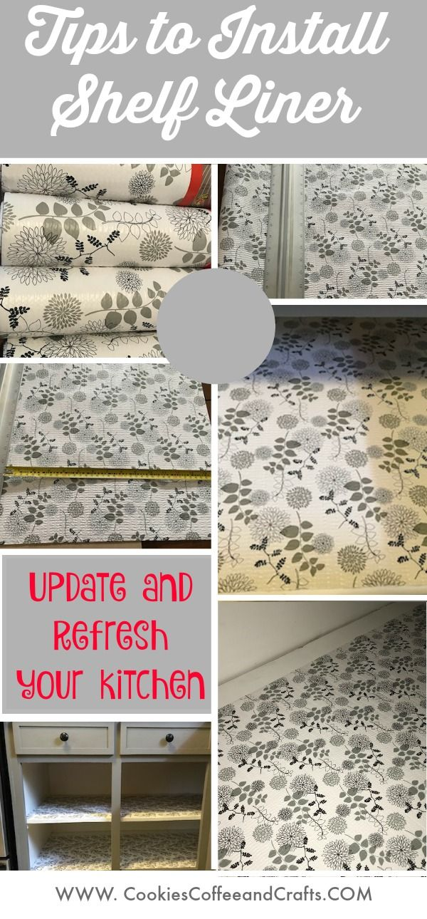 Give Your Kitchen An Updated And Refreshed Look With This Idea Add Shelf Liner To Your Cabinets You Ca Kitchen Shelf Liner Shelf Liner Diy Pantry Shelf Liner