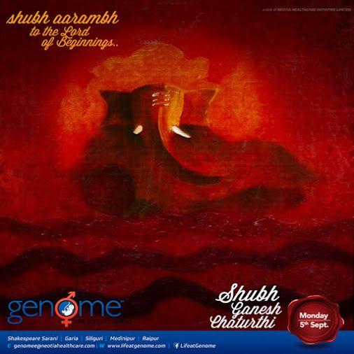 GENOME Wishes you a blessed Ganesh Chaturthi #ganeshchaturthi #festivalsofindia #festivals