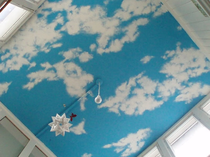 17 best images about laundry room ideas on pinterest peg for Diy clouds ceiling