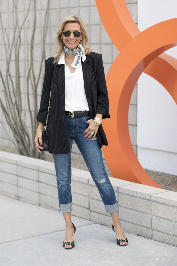 7962e38c8b Starting 2018 In Our Black Pinstripe Boyfriend Jacket And Jeans ...