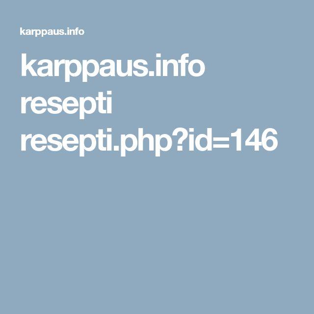 karppaus.info resepti resepti.php?id=146