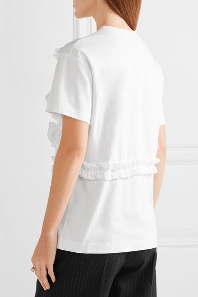 White cotton-jersey Slips on 100% cotton Hand wash or dry clean Made in Italy