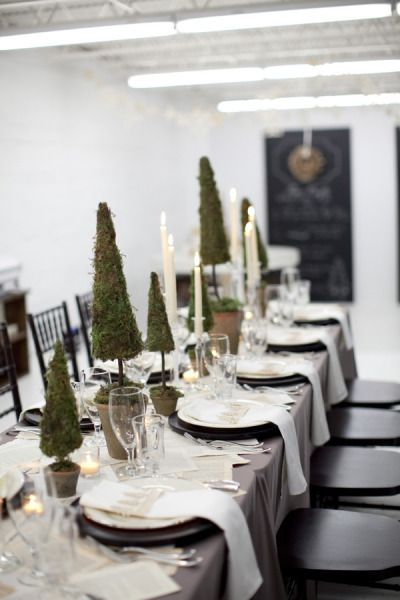 Style Me Pretty | Gallery Christmas tablescape