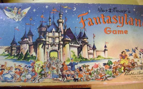 Vintage 1956 Walt Disney's Fantasyland Board Game with by barbsbin, $35.50