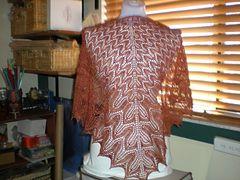 knitgirl389's  Sunflower Shawl (pattern by tincanknits), knitted in Hepburn