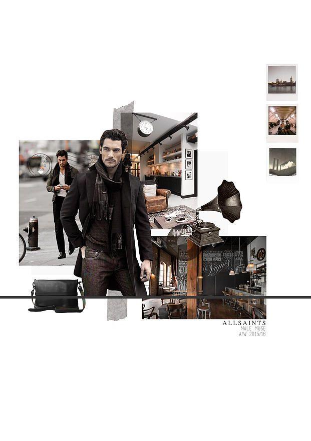 BOONSITA SINGHTOTHONG | ALLSAINTS: DUTY.  fashion design, fashion, portfolio, layout, art, drawing, sketching, muse board