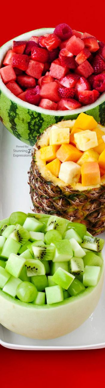 Color-Coded Fruit Bowls
