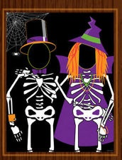 Halloween door Banner Photo PROP Scene Party Photo opportunity banner Skeleton