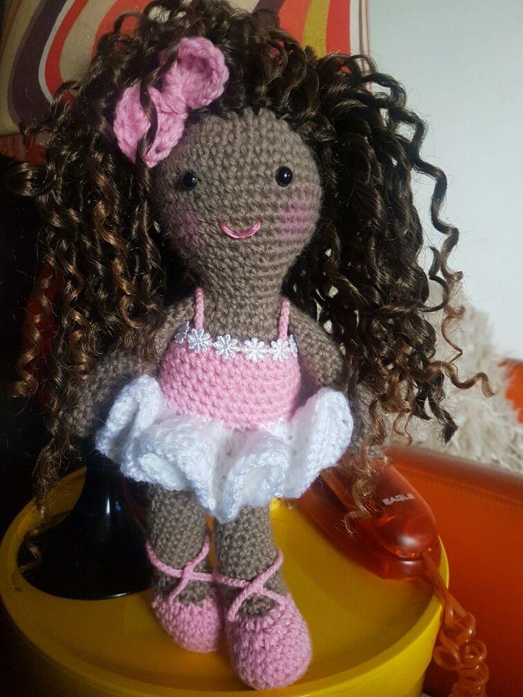 Ballet doll for Billie #dirtygrannycrochet #crochet #crochetdoll #dollsofcolour #ballet #ballerina