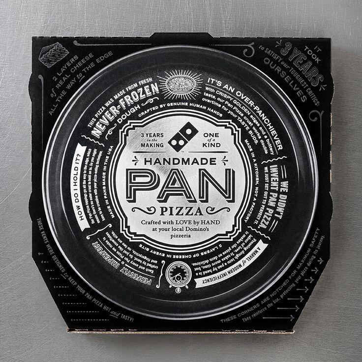 Domino's Pan Pizza  -- Domino's Black Label? Domino's Jack (Daniel's) label? Either way, momma like.