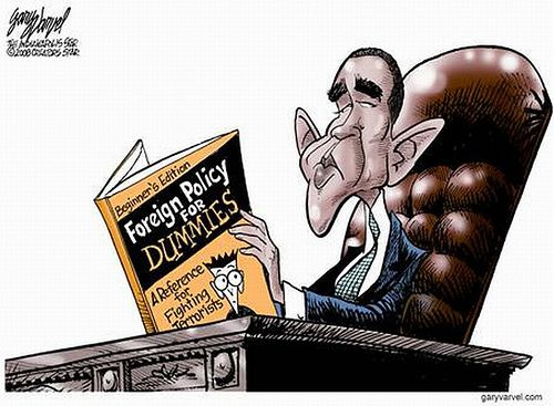 by  Mushy  2008 ---- https://flic.kr/p/5yDdoL | foreign policy for dummies | Nice of GW to leave a parting gift behind for Obama!  And in such good condition since George never opened it.   Image courtesy of Gary Varvel of The Indianapolis Star... whose political cartoons lean to the right much of the time (not all!) but he has some good material.  And the [selfishly?] mistaken notion that Senator Evan Bayh was going to be the veep candidate. :-D