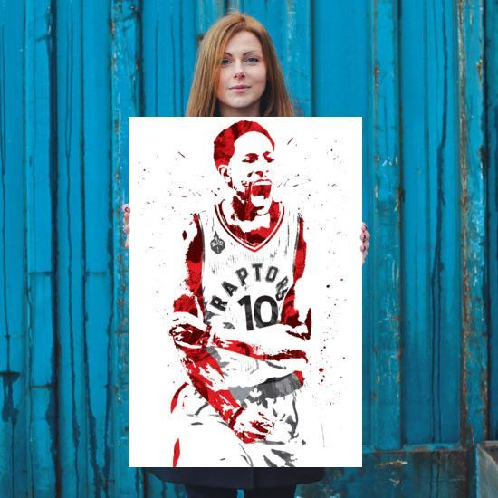 DeMar DeRozan poster. DeRozan is an American professional basketball player for the Toronto Raptors of the NBA. He played college basketball for USC and was selected ninth overall by the Raptors in th