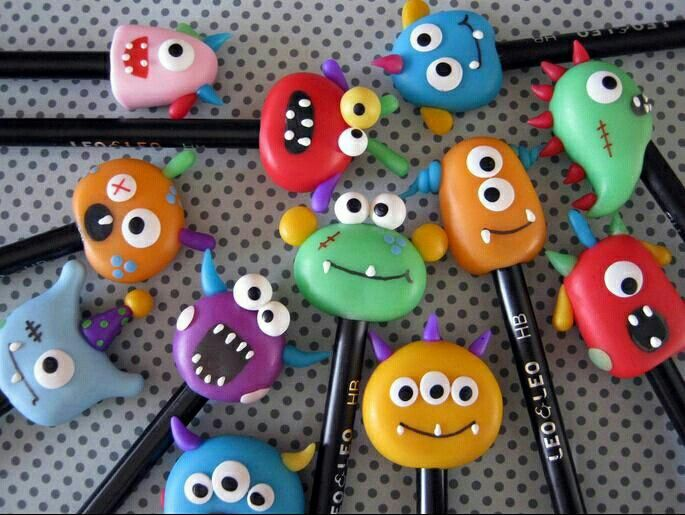 polymer clay pencils                                                                                                                                                                                 More