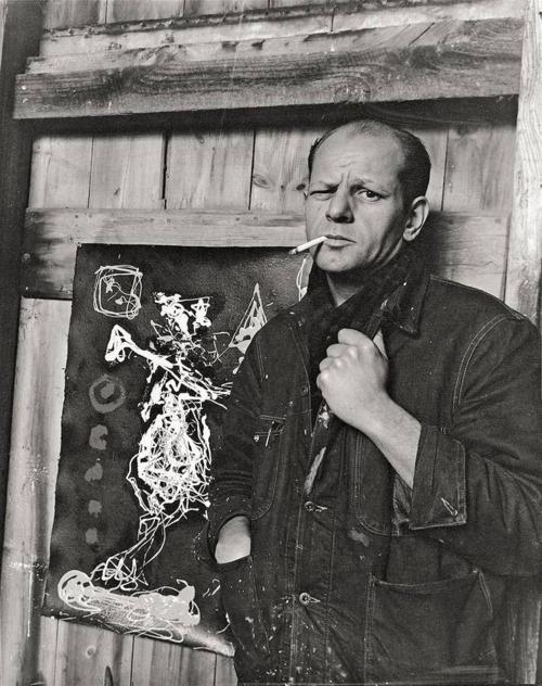 Jackson Pollock, Springs, Long Island (NY), 1949 -by Arnold Newman