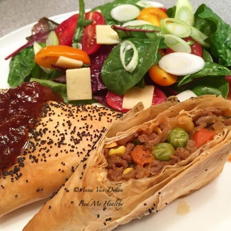Homemade Filo Pasties    6 sheets Filo pastry 1 cup sliced mushrooms 2 bags of steam fresh frozen peas carrot & corn 1 onion diced 400gm lean beef mince 1 tbls Worcestershire sauce 1 tbls original gravy powder 1 tbls tomato paste Salt & Pepper 1/2 tsp mixed dried herbs...