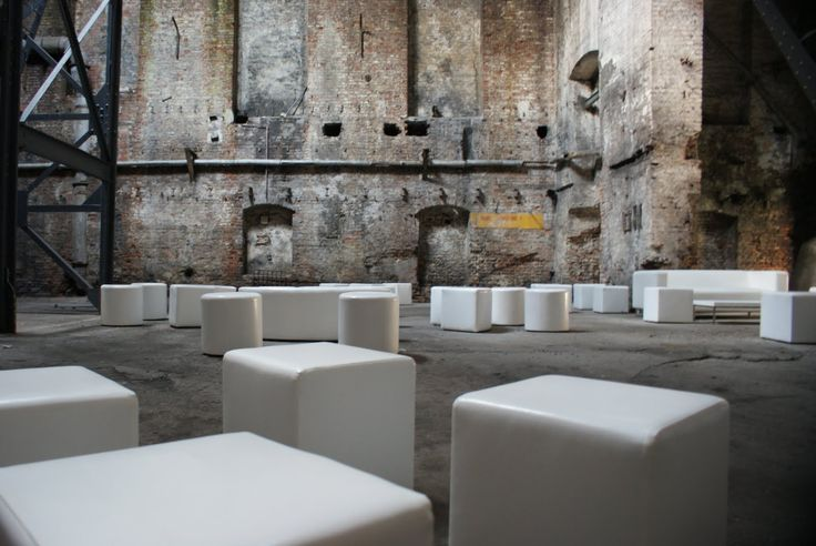 Industrial place and white furniture #industrial #Music #Festival