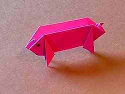 Schwein basteln, Papiertiere, Pig Origami Pattern, Paper, Folding, Animal Origami Pattern, template, how to , step by step, Tutorial, kawaii, adorable, cute papercrafts for kids