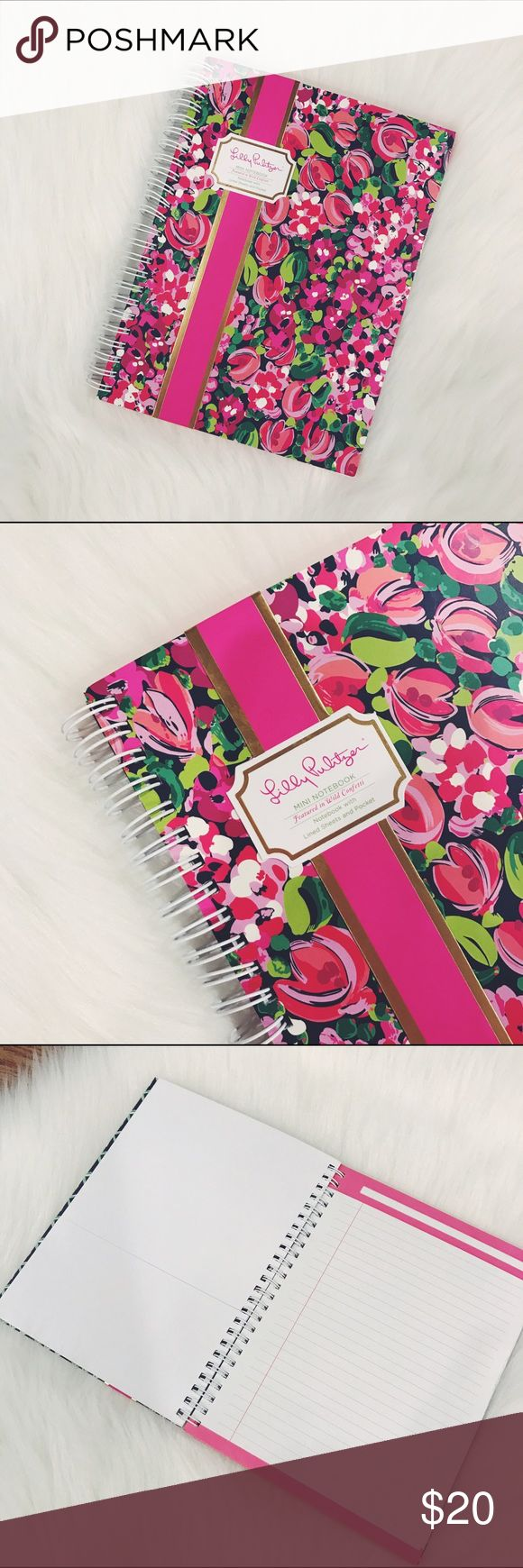 "Lilly Pulitzer Wild Confetti Mini Notebook Wild Confetti, Hardcover mini notebook with spiral and lined sheets, pocket, size small/medium, perfect for a purse or backpack. Measurements: 6""x8 1/4"" brand new.  ✅Check my other Kate Spade and Lilly Pulitzer items, great for Christmas Gifts.           🌷10% off bundle 2 items or more!🌷                             •NO TRADING                             •no offers please                             •FINAL SALE                             •smoke…"