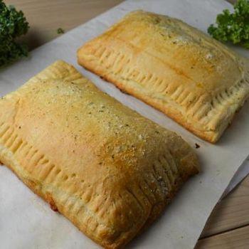 Homemade Vegan Hot Pockets - use any vegan basic dough recipe.
