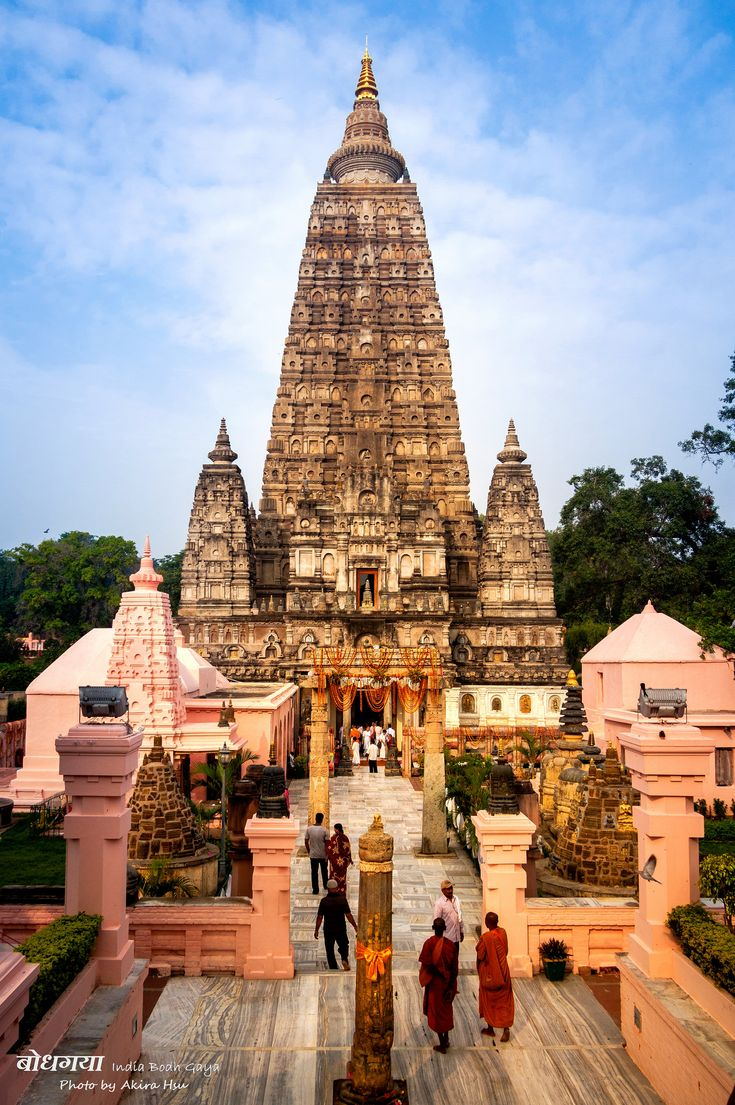 Mahabodhi Temple in India is considered to be the most holy place for Buddhists. Its believed that Siddartha rested under the bodhi tree and gained enlightenment here.
