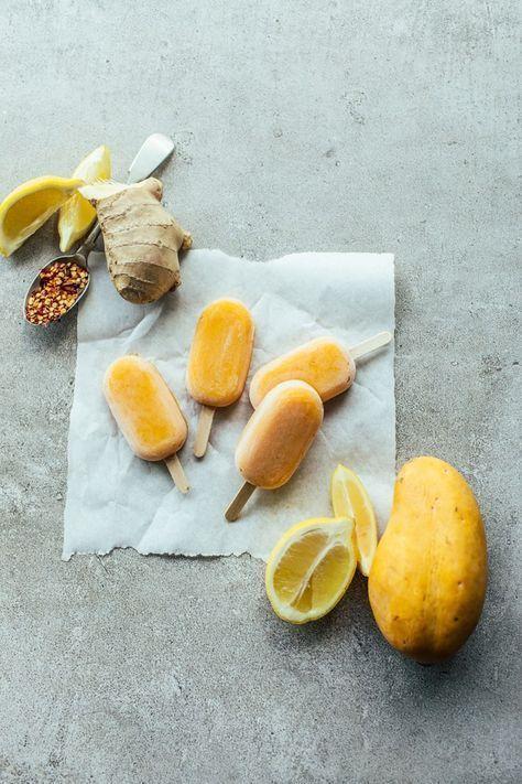 mango chilli ginger popsicles | [ Fruit desserts ] | Pinterest