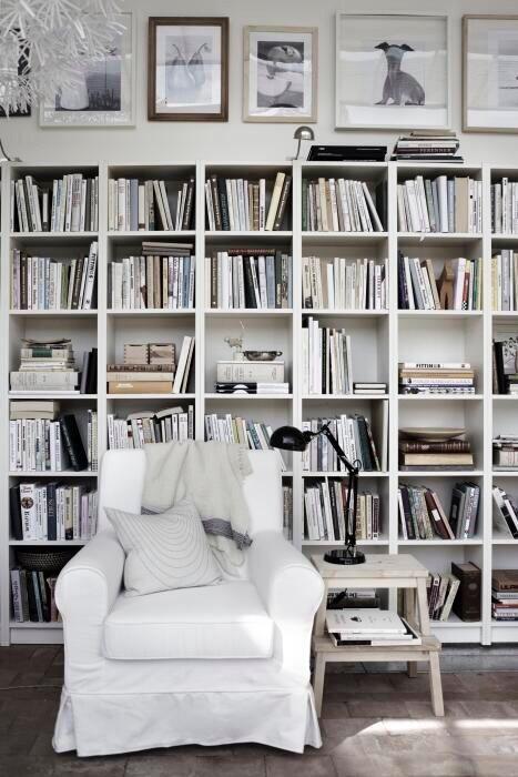With love and light (white bookshelf)