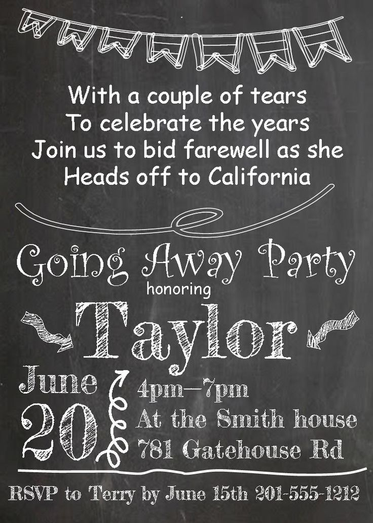 going away party invitations new selections summer 2016 - Goodbye Party Invitation