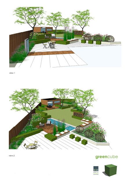633 best images about ogr d nowoczesny geometryczny on for Rectangular garden design