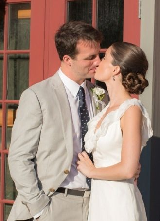 Michael Kennedy Jr. with his bride, Mary.
