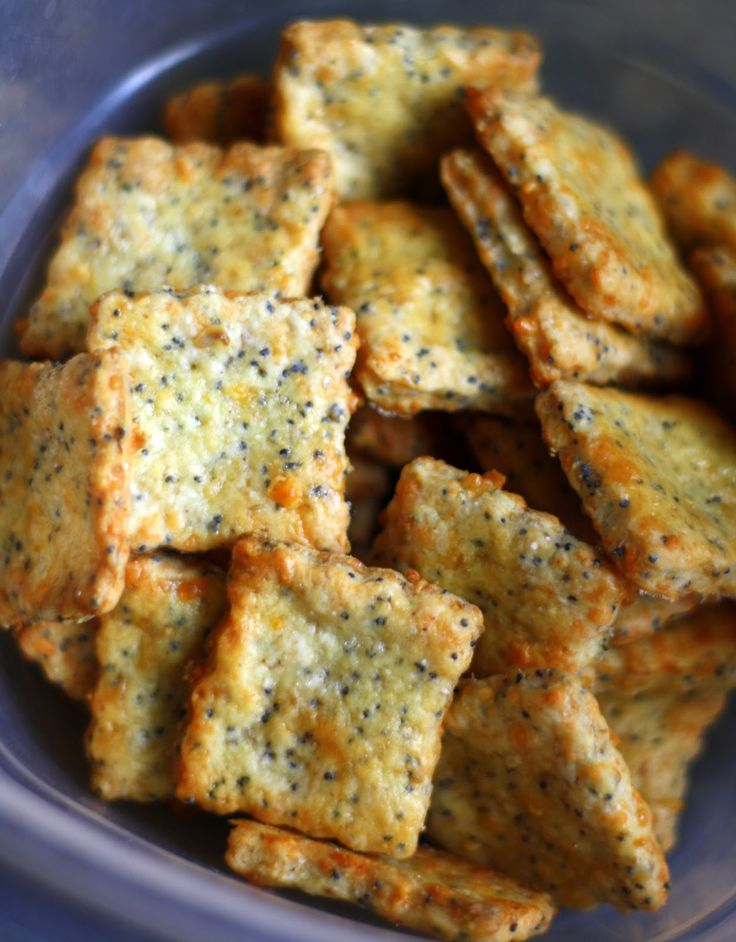 Parmesan-Cheddar Crackers with Poppy Seeds . . . So Crunchy & Addictive, You Can't Eat Just One!