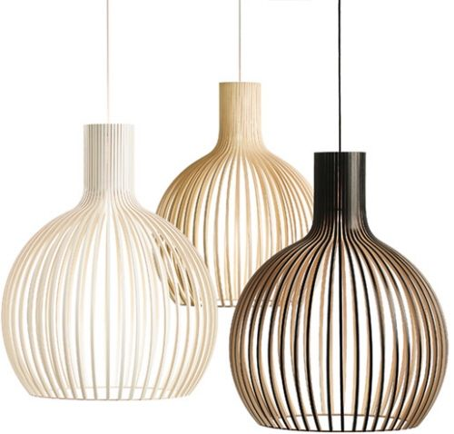 Open slat statement pendant in white or beach is perfect for you ceiling. draws the eye up to you gorgeous ceiling
