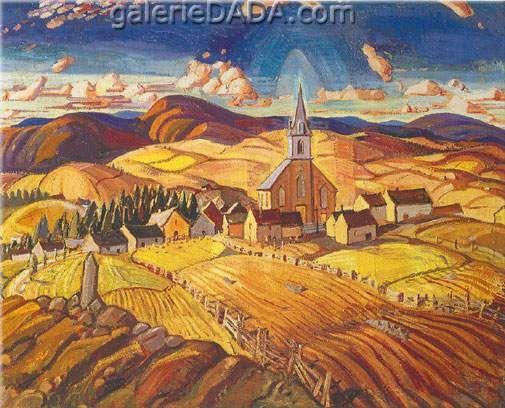Arthur Lismer,  Quebec Village Fine Art Reproduction Oil Painting