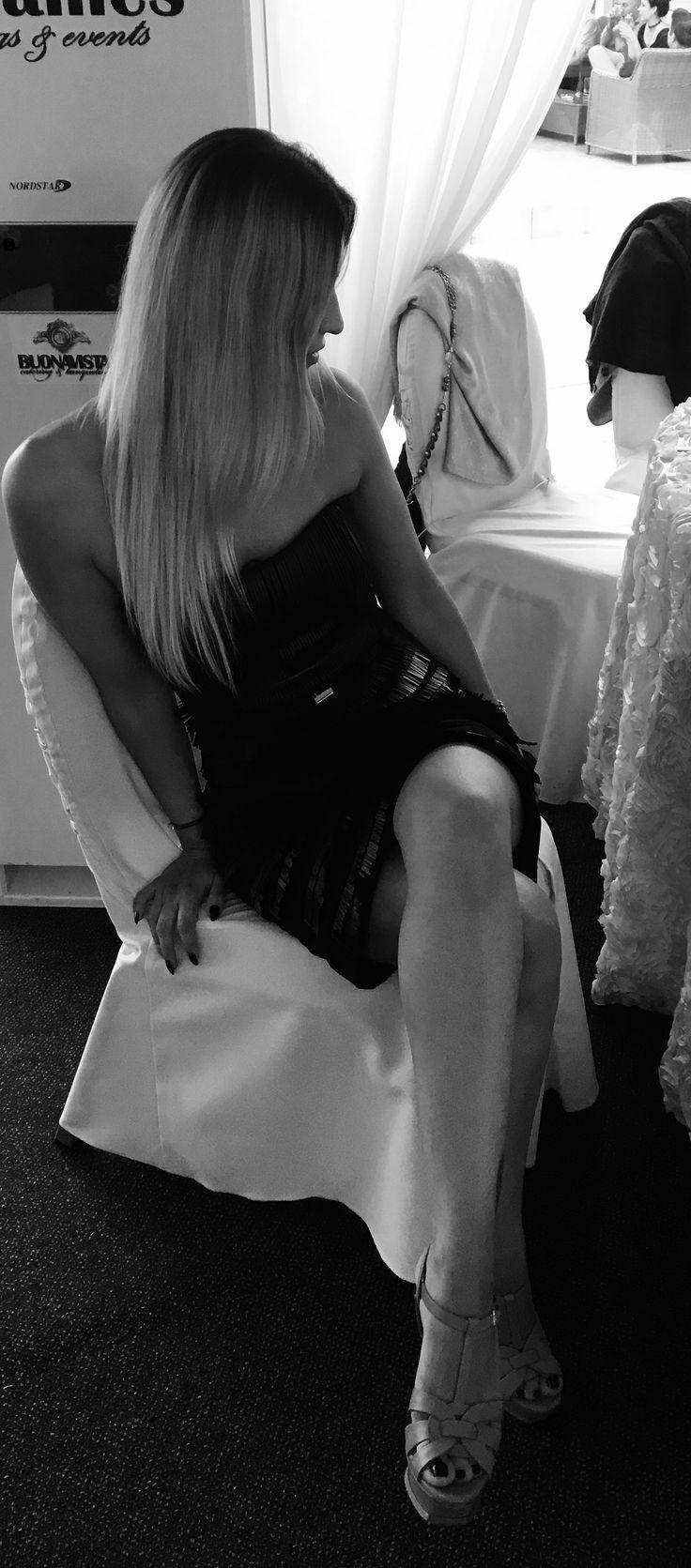 Elisabeta Franchi dress, YSL sandals, love fashion
