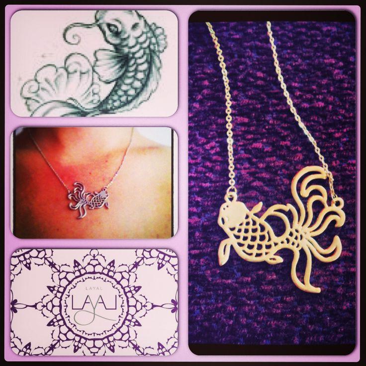 Layal glyfada coy fish necklaces