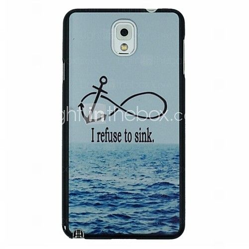 USD $ 2.99 - anker en de zee patroon pc Hard Cover Case voor Samsung Galaxy Note 3