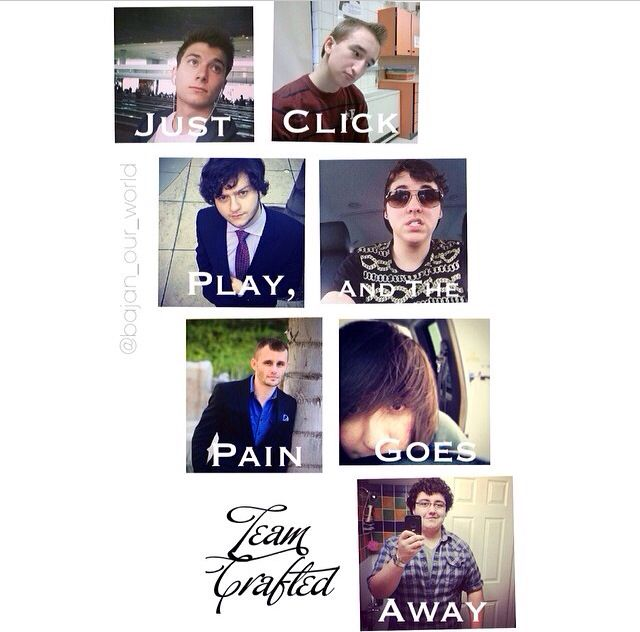 Team Crafted!!! They help me every time I have a bad day and make me feel happy!!!! Keep making everyone laugh you guys and we will remember you!!!!!❤️❤️❤️❤️❤️❤️❤️❤️❤️❤️❤️❤️❤️