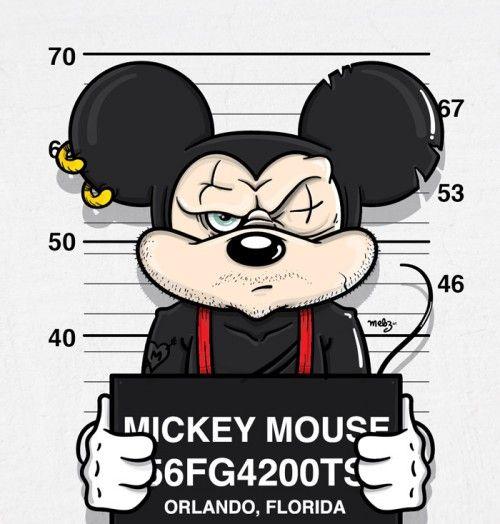 Mickey Mouse Mugshot